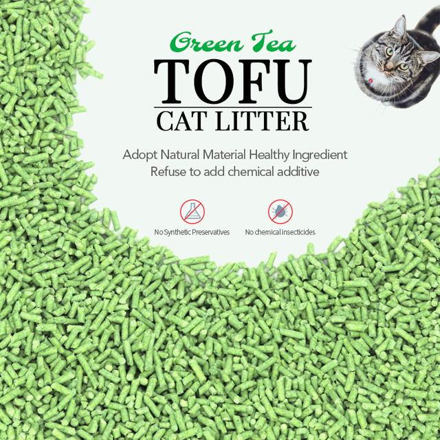 geen Tea Tofu Cat Litter