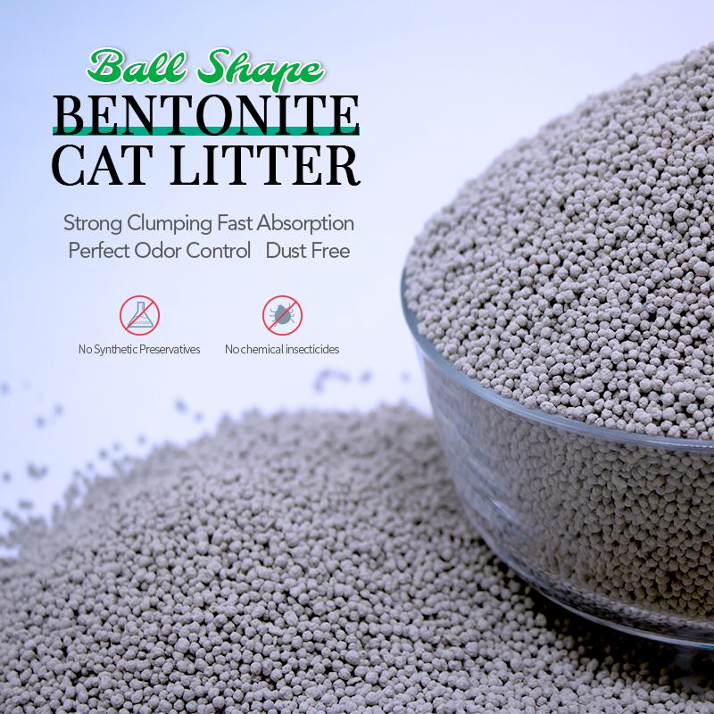 Ball Shape Bentonite Cat Litter Price, OEM Bulk Bentonite Cat Litter, Buy strips cat litter sand