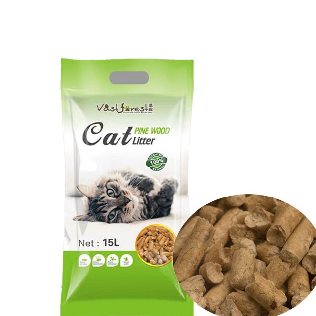 OEM planta de limpieza de madera de pino arena para gatos