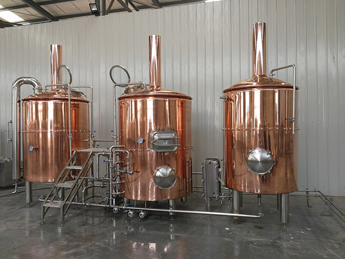 1500L New Design Beer Brewery Equipment Red Copper Four Vessel Beer Brewhouse System