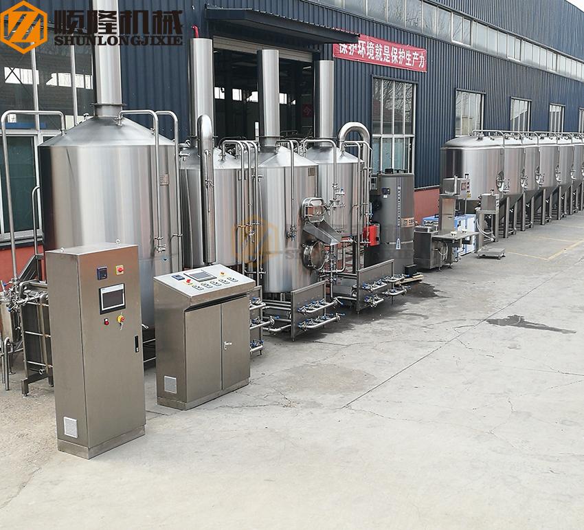 industrial beer brewing equipment