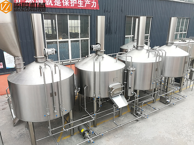 5000L Large Beer Brewery Equipment Five Vessel Brewhouse Five Tanks Micro Brewery Equipment
