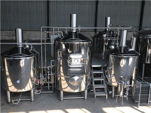 Mirror Material Five Vessel Beer Brewhouse System