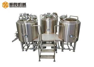 300L 500L Small Beer Brewing System For Beer Making Machinery