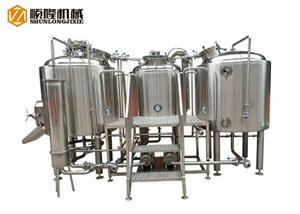 Three Vessel Brewhouse System 1000l Micro Beer Brewing Equipment