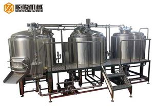 Line Type Three Vessel Beer Brewhouse System