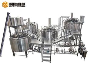 Large Beer Brewery Equipment Beer Factory Machine