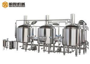 Brasserie à bière à trois navires avec convoyeur de grain