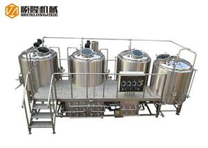 Semi Auto Controller Four Vessel Beer Brewhouse System