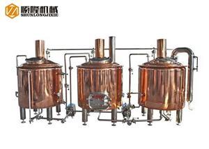 500L micro équipement de brasserie de cuivre rouge