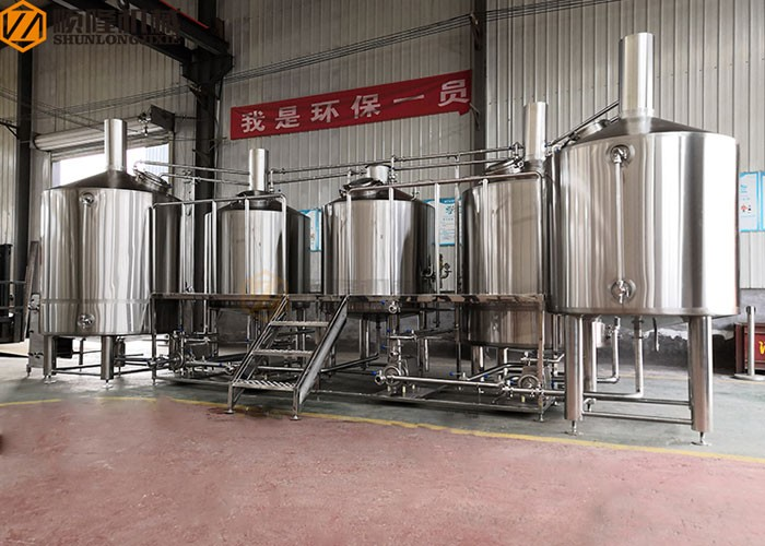 Five Vessel Beer Brewhouse System Industrial Brewery System Larger Beer Brewing Equipment