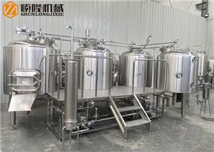 1000L Four Vessel Beer Brewhouse System Complete Beer Making Machine