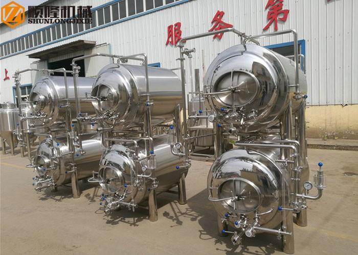 Horizontale heldere biertank / rijpe tank