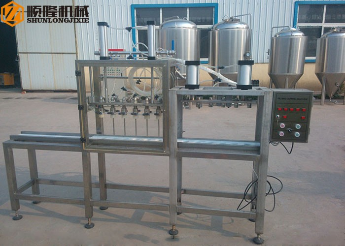 Semi Auto Bottles Filling And Capping Machine