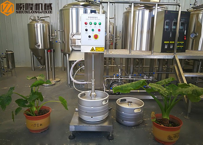 Auto Controller One Head Beer Keg Filling Machine
