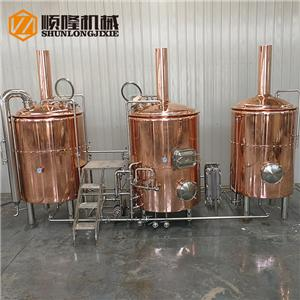 500L Copper beer brewing equipment with 3 vessels
