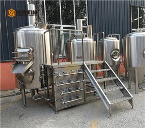 500L beer brewery equipment with 3 vessels for sale