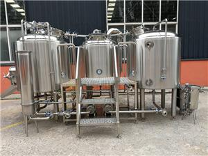 professional micro 500L beer brewery equipment with 3 vessels