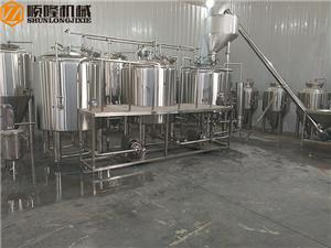 500L commercial beer brewing equipment with 3 vessels