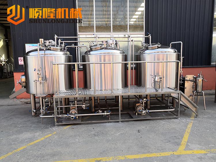 1000L 3 vessels beer brewery equipment