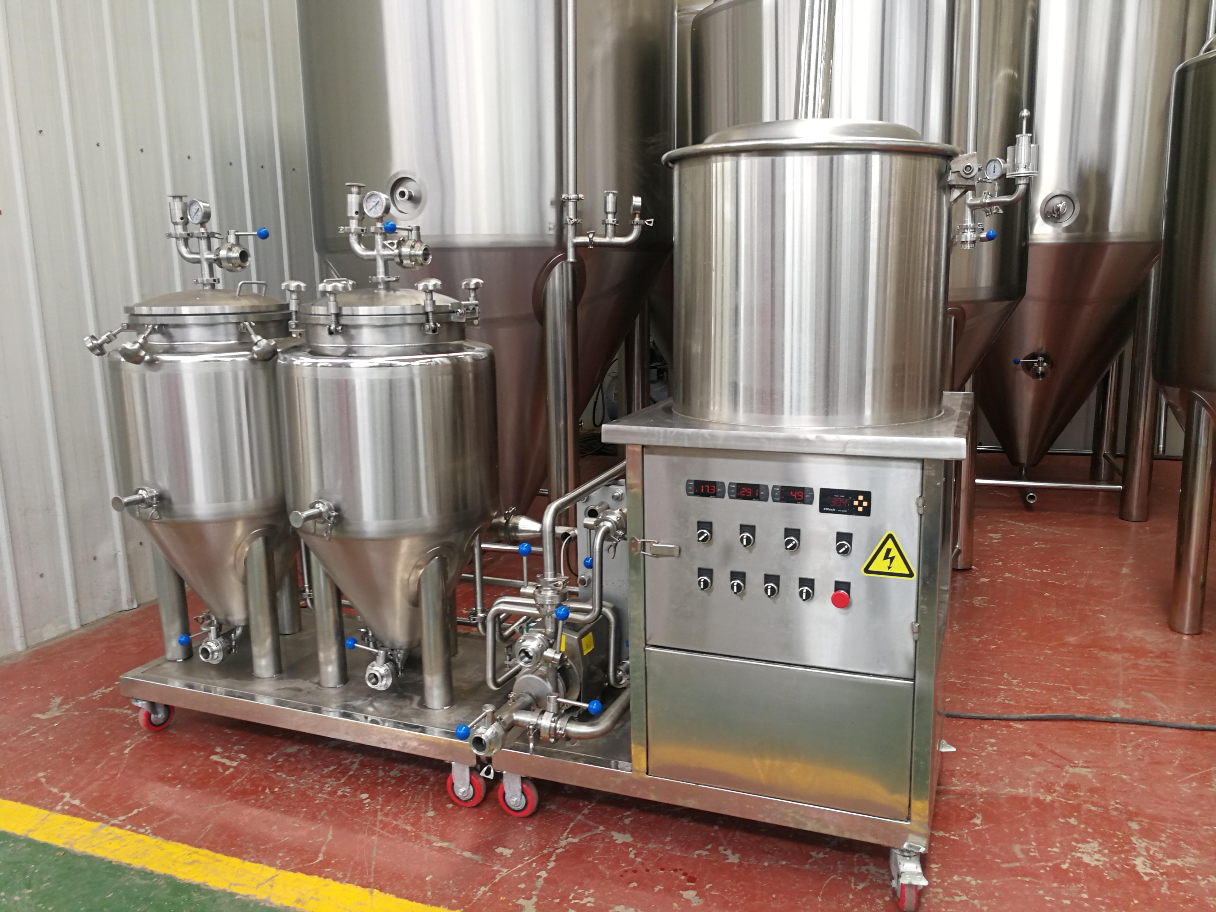 thuis 50L commerciële bierbrouwerijapparatuur