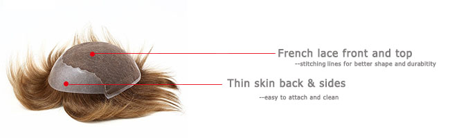 natural looking hair system