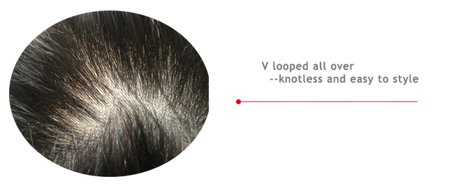 all v looped skin hair pieces
