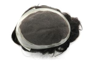 Lace Toupee For Men With Poly Around Stock Sthair System