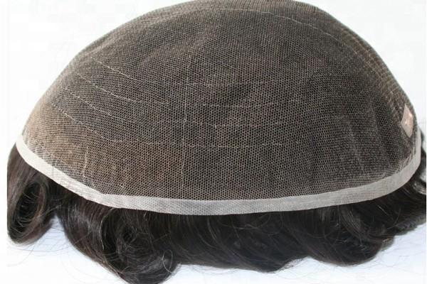 人のための在庫のフランスのレースの人間の毛髪の通気性の毛の部分