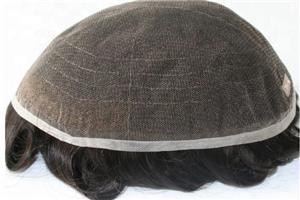 Partes respiráveis francesas conservadas em estoque do cabelo do cabelo humano do laço para o homem