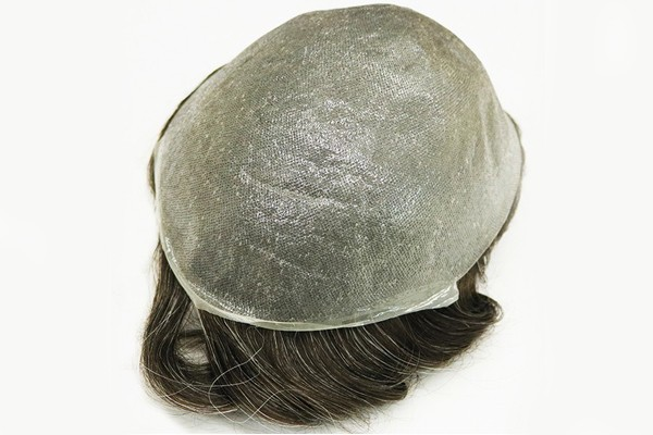 Stock 0.03mm Ultra Thin Skin V Looped Mens Hair System Toupee