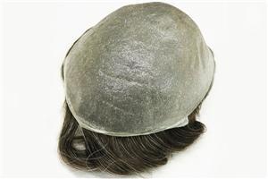 Toupee dado laços ultra fino do sistema do cabelo dos homens da pele 0,03mm V