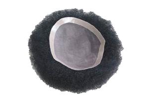 100% Hand Crafted Mono Afro Hairpieces For Black Men