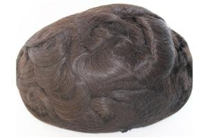 Lace Front Super Thin Skin Men's Hair Systems Hairpieces