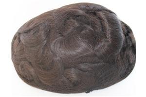 Sistemas de cabelo de homens de cabelo de pele de frente super rala