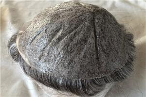 0.03mm Micro Thin Skin All Over Toupee For Men Remy Hair System