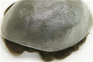 Transparent Thin Skin All Knotted Hair System Toupees For Men