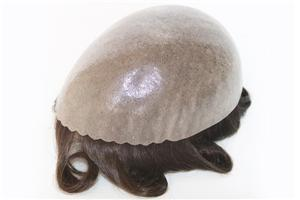 All Bio Skin Gauze Knotted Hair System Stock Hairpieces For Men