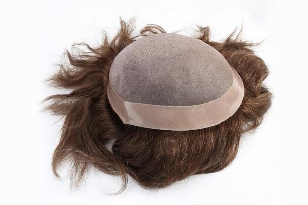 Прекрасный моно с пу покрытиями мужские человеческие волосы парики систем волос