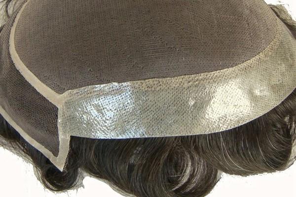 Неопределяемый Прекрасный Моно верхний туз Фронт Мужской Волосы парик