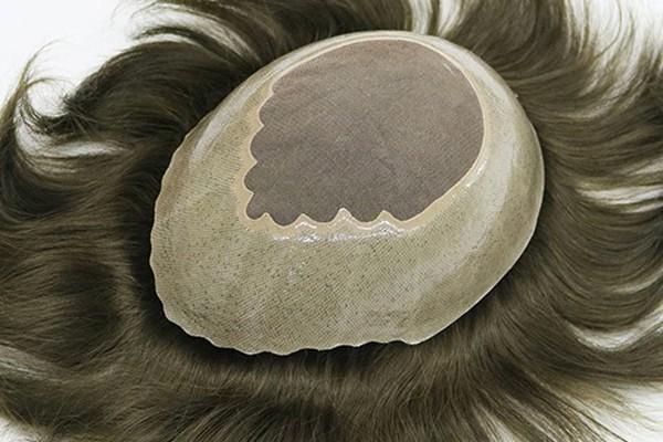 Гребешок волосной Прочные моно верхние мужские парики для волос хохол