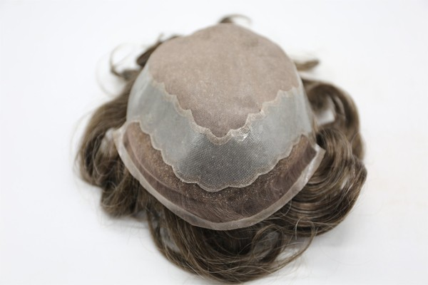 モノレースフロント耐久性のある髪の交換システムメンズかつらかつら