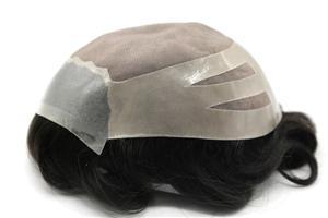 Cortina Fina Mono Top Corte Caminho de Volta Design Hair System peruca peruca