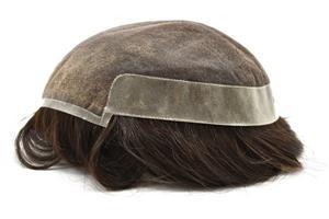 Parte dianteira invisível do laço 1 'peruca dos homens do sistema do cabelo da parte traseira do plutônio