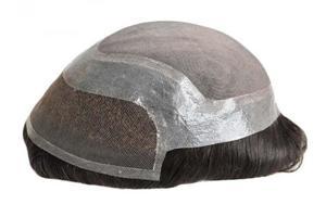 Francês Lace Front Poly em torno do sistema de substituição de cabelo