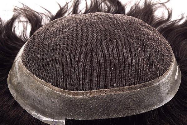 Peruca de renda para homens com pele super fina em torno do sistema de cabelo