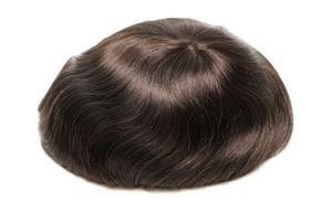 Laço francês natural com postiços dos homens do cabelo humano do plutônio