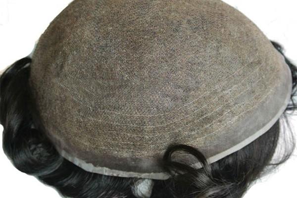 Mono soldado fino com costura sistema de substituição de cabelo de renda