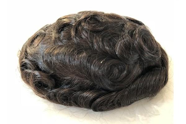 Hairpieces novos de FWM com sistema masculino da substituição do cabelo do revestimento do plutônio