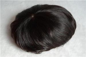 Laço francês natural poli em torno da peruca da peruca dos Hairpieces dos homens